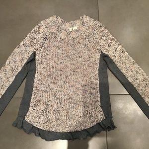 Anthropologie MOTH Italian Marled Wool Sweater